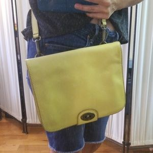 Yellow Leather Fossil Purse